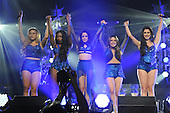 SUNRISE FL - DECEMBER 18: Aly Brooke, Dinah Jane, Normani Kordei, Lauren Jauregui and Camila Cabello of Fifth Harmony perform at the Y100 Jingle Ball 2015 held at The BB&T Center on December 18, 2015 in Sunrise, Florida. (Photo by Larry Marano © 2015