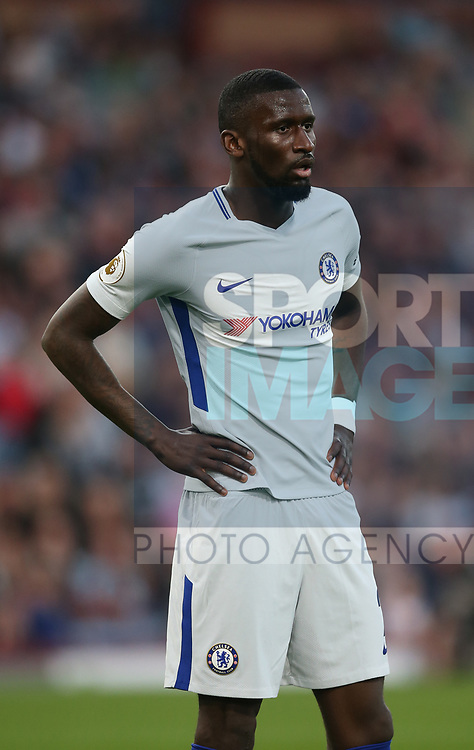 Antonio Rudiger of Chelsea during the premier league match at the Turf Moor Stadium, Burnley. Picture date 19th April 2018. Picture credit should read: Simon Bellis/Sportimage