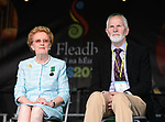 Anne Finnegan, President CCE and Fleadh 2017 chairman Frank Whelan  at the official opening of the All-Ireland Fleadh 2017 in Ennis. Photograph by John Kelly.
