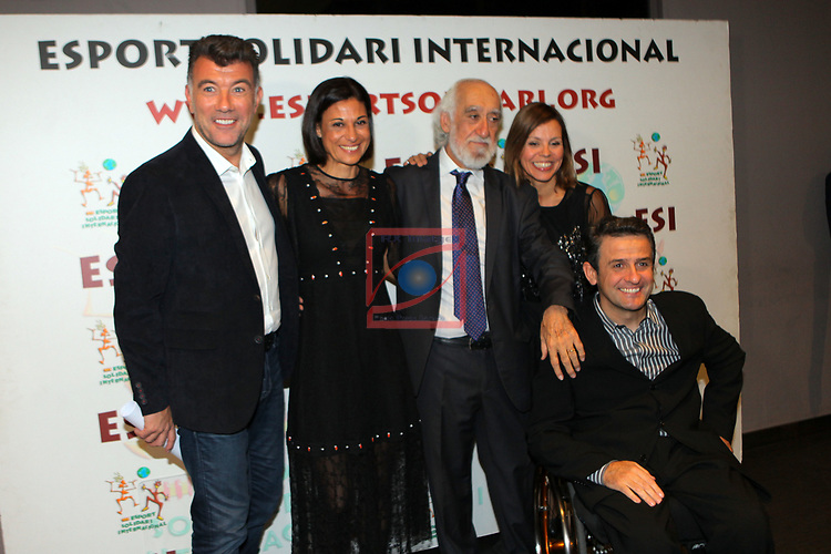 XIV Sopar Solidari de Nadal.<br /> Esport Solidari Internacional-ESI.<br /> Pep Plaza, Lidia, Josep Maldonado, Txell Just & Isidre Esteve.