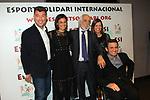 XIV Sopar Solidari de Nadal.<br /> Esport Solidari Internacional-ESI.<br /> Pep Plaza, Lidia, Josep Maldonado, Txell Just &amp; Isidre Esteve.