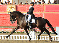 16.05.2014.  Windsor Horse Show London, Silvia Rizzo (ITA) riding Sal during the CD13* FEI Grand Prix Freestyle to music