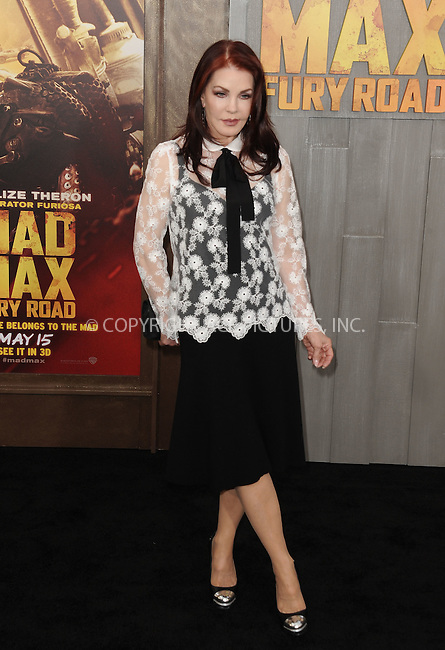 WWW.ACEPIXS.COM<br /> <br /> May 7 2015, LA<br /> <br /> Priscilla Presley arriving at the premiere  'Mad Max: Fury Road' at the TCL Chinese Theatre on May 7, 2015 in Hollywood, California. <br /> <br /> By Line: Peter West/ACE Pictures<br /> <br /> <br /> ACE Pictures, Inc.<br /> tel: 646 769 0430<br /> Email: info@acepixs.com<br /> www.acepixs.com