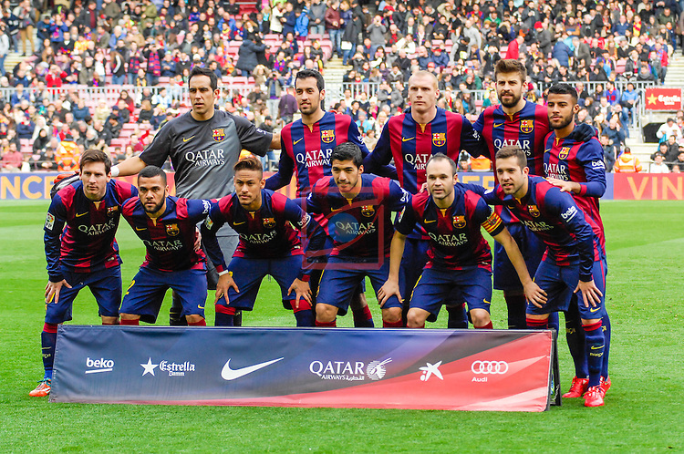 League BBVA 2014/2015 - Game: 24.<br /> FC Barcelona vs Malaga CF: 0-1.