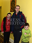 Miriam Gavin, Cian Martin and Brendan Gavin at the Special Olympics coffee morning fundraiser in the Dominic house. Photo:Colin Bell/pressphotos.ie