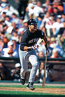 SAN FRANCISCO, CA - Mike Piazza of the New York Mets bats during game 1 of the NLDS against the San Francisco Giants at Pacific Bell Park in San Francisco, California in 2000. (Photo by Brad Mangin)