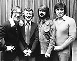 The Shadows 1973 Hank B Marvin, Brian Bennett, John Farrar, Bruce Welch.© Chris Walter.