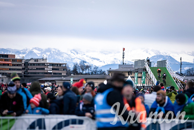 The Alps backdrop<br /> <br /> Women's Elite Race<br /> UCI 2020 Cyclocross World Championships<br /> Dübendorf / Switzerland<br /> <br /> ©kramon
