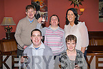 GREAT: A great night as they bring in the New Year in The Imperial Hotel, Tralee on Friday night, Front l-r: Anthony O'Connor andf Mary O'Donnell. Back l-r: Colin Noble, Siobhan Quirke and Denise Cronin...... . ............................... ..........