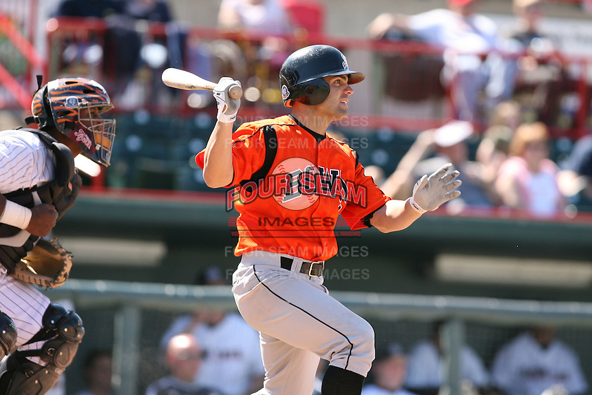 April 22nd, 2007:  Pete Maestrales of the Bowie Baysox, Class-AA affiliate of the Baltimore Orioles at Jerry Uht Park in Erie, PA.  Photo by:  Mike Janes/Four Seam Images