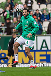 01.12.2018, Weserstadion, Bremen, GER, 1.FBL, Werder Bremen vs FC Bayern Muenchen<br /> <br /> DFL REGULATIONS PROHIBIT ANY USE OF PHOTOGRAPHS AS IMAGE SEQUENCES AND/OR QUASI-VIDEO.<br /> <br /> im Bild / picture shows<br /> Claudio Pizarro (Werder Bremen #04) beim Aufw&auml;rmen, <br /> <br /> Foto &copy; nordphoto / Ewert