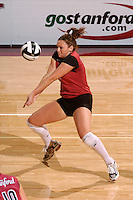 17 Sep 2005: Katie Goldhahn during Stanford's 3-0 win over UCSB at Maples Pavilion in Stanford, CA.