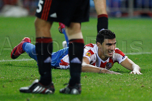 30.09.2010 UEFA  Europa League Spain. Atletico Madrid suffered another setback in the defence of their Europa League title after being held to a 1-1 draw at home by Bayer Leverkusen. Picture shows José Antonio Reyes