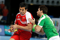 15.01.2013 World Championshio Handball. Match between Algeria vs Egypt (24-24) at the stadium La Caja Magica. The picture show Ahmed Abou El Fetouh Abdel Razek (Back of Egypt)