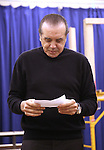 """Chazz Palminteri during the open press rehearsal for """"A Bronx Tale - The New Musical""""  at the New 42nd Street Studios on October 21, 2016 in New York City."""
