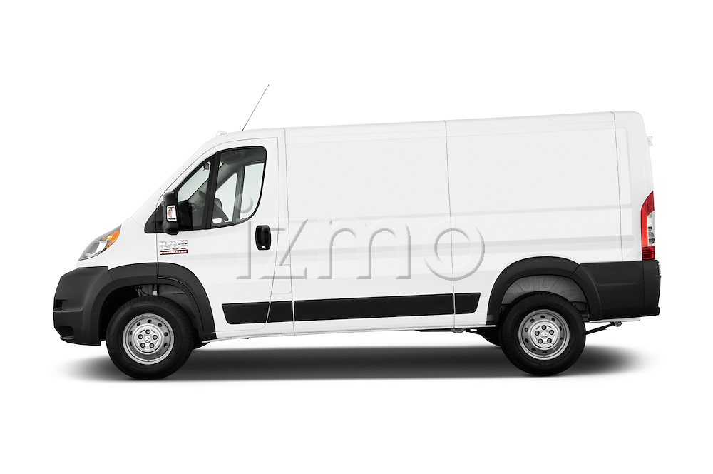 Car Driver side profile view of a2014 Ram Promaster 1500 136 WB Low Roof 3 Door Cargo Van Side View