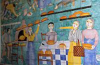 """Europe/Italie/Côte Amalfitaine/Campagnie/Amalfi : Enseigne en céramique de la boulangerie """"Panificio Apicella"""""""