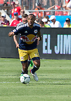 20 July 2013: New York Red Bulls forward Thierry Henry #14in action during an MLS regular season game between the New York Red Bulls and Toronto FC at BMO Field in Toronto, Ontario Canada.