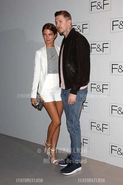 Millie Mackintosh and Professor Green at the F&F - a/w 2014 fashion show held at Somerset House, London. 03/04/2014 Picture by: Henry Harris / Featureflash