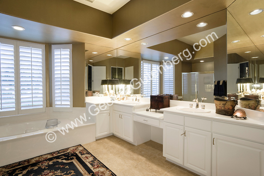 Stock photo of master bath in white Stock photo of master bath, en suite, bathroom