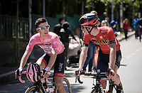 fresh Maglia Rosa / overall leader Valerio Conti (ITA/UAE-Emirates) at the race start in Vasto<br /> <br /> Stage 7: Vasto to L'Aquila (180km)<br /> 102nd Giro d'Italia 2019<br /> <br /> ©kramon