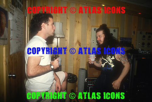 Anthrax; 1995;  Dimebag Darrell of Pantera; Recording Studio for  Stomp 442;<br /> Photo Credit: Eddie Malluk/Atlas Icons.com
