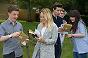 14/08/14 <br /> <br /> Alex Large AAC, Ellie Rossi ABC, Dan Rowley ABB, Beth Abell A*BBB.<br /> <br /> A level students collect their exam results from John Port School, Etwall, Derbyshire. Deputy Head Phil Smith said: &quot;It's been our best year ever. As and A* grades are up by 7 or 8 percent. Twenty seven percent of students achieved the top two grades bring the total tally  for the school to 103. Although obviously their are still some students who didn't get the grades they were hoping for&quot;.<br /> <br /> All Rights Reserved - F Stop Press.  www.fstoppress.com. Tel: +44 (0)1335 300098