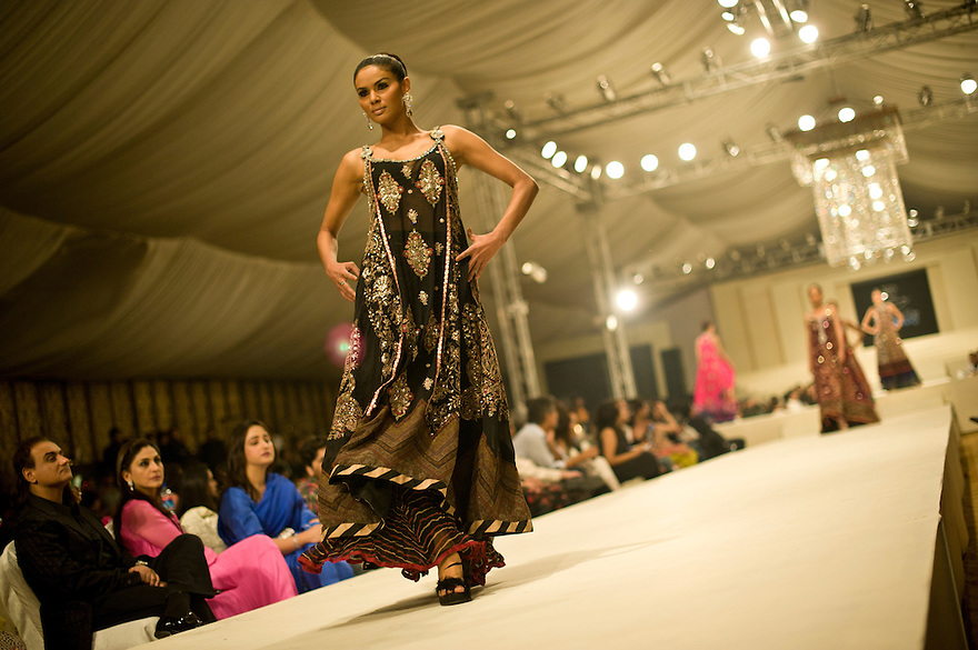 After a two year break after breakdown in talks between India and Pakistan the annual high couture fashion event, favoured by Pakistan's elite and high society took place in Lahore involving showcases by both Indian and Pakistani designers. ..http://tribune.com.pk/story/9782/trc-carnival-de-couture-to-dazzle-lahore-tonight/..Photograph by: Niklas Halle'n/CHI-photo/Rex features