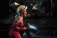 Mary J. Blige, Oscar&reg; nominee for actress in a supporting role and for music (original song), performs during the live ABC Telecast of The 90th Oscars&reg; at the Dolby&reg; Theatre in Hollywood, CA on Sunday, March 4, 2018.<br /> *Editorial Use Only*<br /> CAP/PLF/AMPAS<br /> Supplied by Capital Pictures