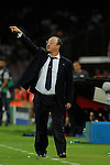 Rafael Benitez head coach of Napoli gestures  during the match between SSC Napoli and Athletic Club Bilbao, play-offs First leg Champions League at the San Paolo Stadium onTuesday August 19, 2014 in Napoli, Italy. (Photo by Marco Iorio)<br />
