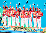 China team group (CHN), AUGUST 19, 2016 - Synchronized Swimming : Teams Medal Ceremony at Maria Lenk Aquatic Centre during the Rio 2016 Olympic Games in Rio de Janeiro, Brazil. (Photo by Enrico Calderoni/AFLO SPORT)