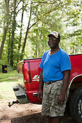 """August 6, 2010. New Hill, North Carolina.. Johnny Judd lives within 1/2 mile of the propsed site for the sewage plant. Residents along his street have been offered the ability to hook up to the sewage and water lines that would come with the facility, but they would have to pay the thousands of dollars for the hook up upfront and be reimbured for """"reasonable"""" costs. Mr. Judd already has a septic system and sees no reason to accpet the offer. He called it """"passing out candy"""" to appease residents in his neighborhood which is predominanty African American.. A coalition composed of the towns of Cary, Apex, Morrisville and Holly Springs has proposed to build a waste water treatment plant in the unincorporated town of New Hill, in southern Wake County.. The residents only found out about the proposed site through a Cary resident and have been fighting the plant ever since as it brings no benefits to their town, only to the larger members of the coaltition."""