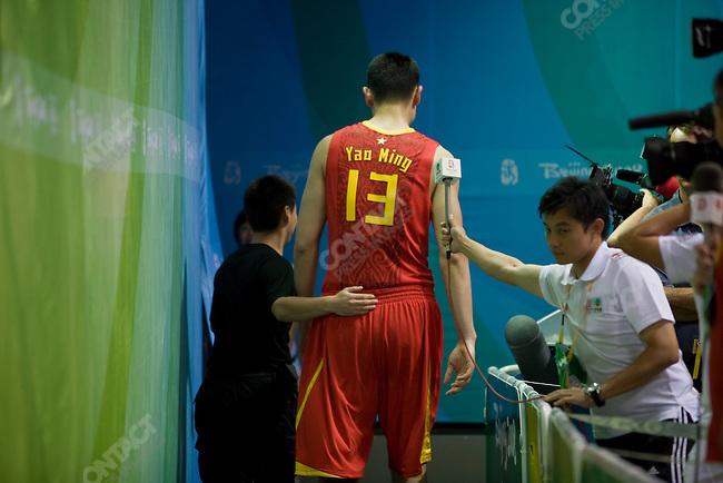 Men's Basketball, Yao Ming, China vs USA, preliminary round, Summer Olympics, Beijing, China, August 10, 2008