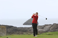 Sean Myatt (Ennis) on the 4th tee during the Munster Final of the AIG Junior Cup at Tralee Golf Club, Tralee, Co Kerry. 13/08/2017<br /> Picture: Golffile | Thos Caffrey<br /> <br /> <br /> All photo usage must carry mandatory copyright credit     (&copy; Golffile | Thos Caffrey)