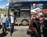 The fans welcome Accrington Stanley Manager John Coleman prior to the Sky Bet League 2 match between Wycombe Wanderers and Accrington Stanley at Adams Park, High Wycombe, England on the 30th April 2016. Photo by Liam McAvoy / PRiME Media Images.