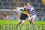Brian Looney Dr. Crokes in action against Damien Cahalane Castlehaven in the Munster Senior Club Final at Pairc Ui Caoimh on Sunday