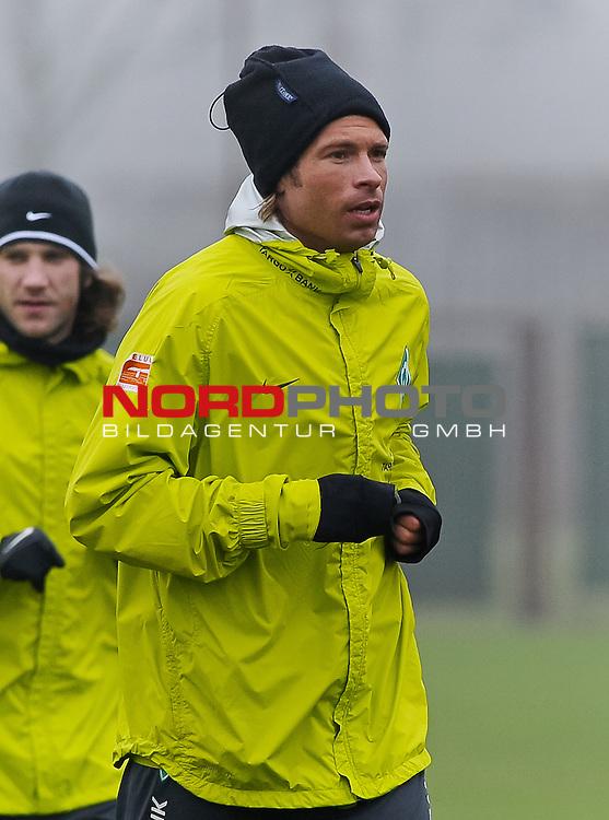 30.01.2011, Trainingsgelaende Werder Bremen, Bremen, GER, 1.FBL, Training Werder Bremen, im Bild Tim Wiese (Bremen #1)   Foto © nph / Frisch