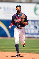 Cedar Rapids Kernels outfielder Byron Buxton #7 runs during a game against the Lansing Lugnuts at Veterans Memorial Stadium on April 30, 2013 in Cedar Rapids, Iowa. (Brace Hemmelgarn/Four Seam Images)