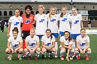 Allston, MA - Saturday, May 07, 2016: Boston Breakers starting eleven during a regular season National Women's Soccer League (NWSL) match at Jordan Field.