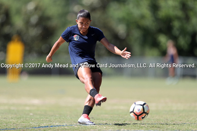 CARY, NC - MAY 04: Debinha. The North Carolina Courage held a training session on May 4, 2017, at WakeMed Soccer Park Field 6 in Cary, NC.