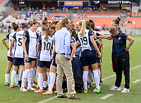 Houston, TX - Saturday July 15, 2017: Washington Spirit  huddle prior to a regular season National Women's Soccer League (NWSL) match between the Houston Dash and the Washington Spirit at BBVA Compass Stadium.