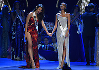 BANGKOK, THAILAND - DECEMBER 17: 2018 MISS UNIVERSE: Miss Philppines Catriona Gray and Miss South Africa Tamaryn Green on the 2018 MISS UNIVERSE competition at the Impact Arena in Bangkok, Thailand on December 17, 2018. (Photo by Frank Micelotta/FOX/PictureGroup)