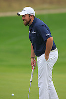 Shane Lowry (IRL) on the 1st green during Saturay's Round 3 of the 2014 BMW Masters held at Lake Malaren, Shanghai, China. 1st November 2014.<br /> Picture: Eoin Clarke www.golffile.ie