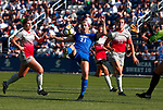 Siddoway, Maddie_W1_0713<br /> <br /> BYU's Maddie Siddoway (21) takes a shot on goal in the first half. The game between BYU and Ohio State ended in a scoreless draw at South Field on August 21, 2017.<br /> <br /> 17wSOC vs Ohio State<br /> <br /> August 21, 2017<br /> <br /> Photo by Jaren Wilkey/BYU<br /> <br /> © BYU PHOTO 2017<br /> All Rights Reserved<br /> photo@byu.edu  (801)422-7322