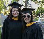 Gina Sparacino and Stephanie Hall during the University of Nevada College of Business and Division of Health Sciences graduation ceremony on Friday morning, May 19, 2017.