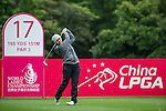 Punpaka Phuntumabamrung of Thailand tees off at the 17th hole during Round 1 of the World Ladies Championship 2016 on 10 March 2016 at Mission Hills Olazabal Golf Course in Dongguan, China. Photo by Victor Fraile / Power Sport Images
