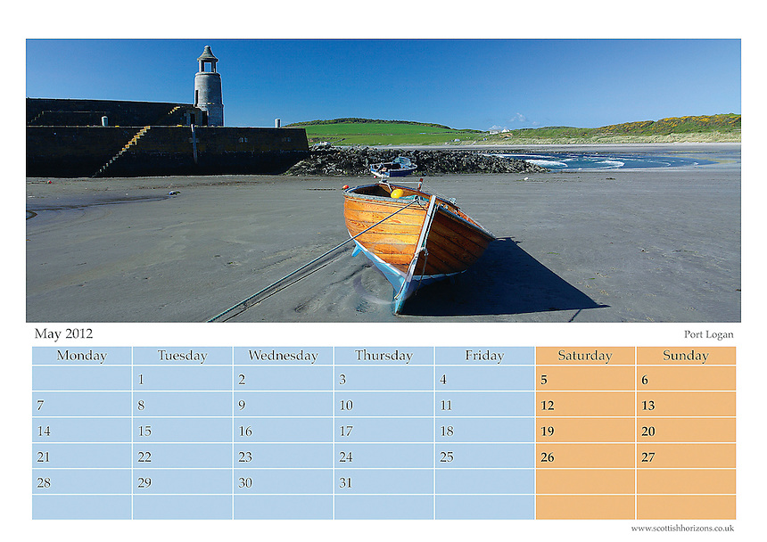 2012 Galloway Coastline Calendar Month
