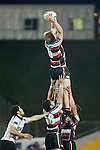 Andrew Van der Heijden takes lineout ball. Air New Zealand Cup rugby game between Counties Manukau Steelers & Hawkes Bay, played at Mt Smart Stadium on the 23rd of August 2007. Hawkes Bay won 38 - 14.