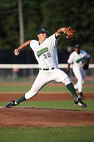 July 11th 2008:  Pitcher Johnny Dorn of the Jamestown Jammers, Class-A affiliate of the Florida Marlins, during a game at Russell Diethrick Park in Jamestown, NY.  Photo by:  Mike Janes/Four Seam Images