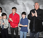 Lewis Grosso, Andrew Keenan-Bolger & , Matthew J. Schechter & Harvey Fierstein.attending the Actors' Equity Broadway Opening Night Gypsy Robe Ceremony for Aaron J. Albano in.'Newsies - The Musical' at the Nederlander Theatre in NewYork City on 3/29/2012